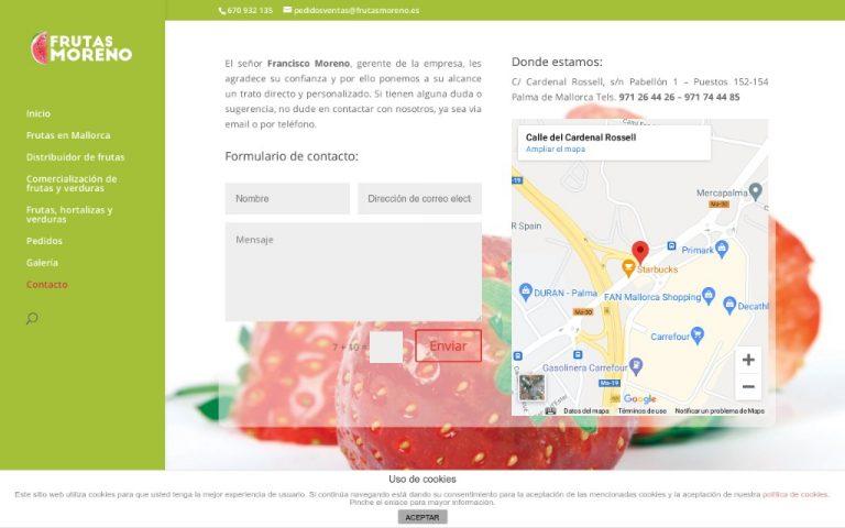 Frutas moreno, distribuidor de frutas y verduras