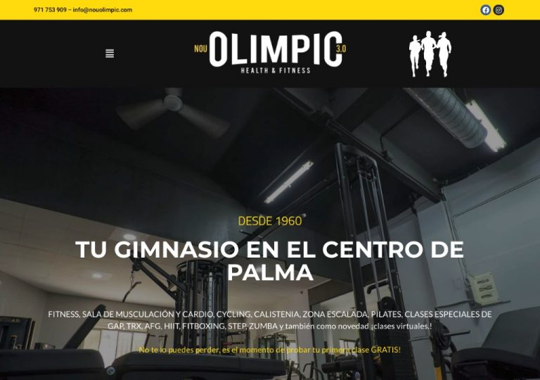 NouOlimpic Tu Gimnasio en el centro de Palma de Mallorca