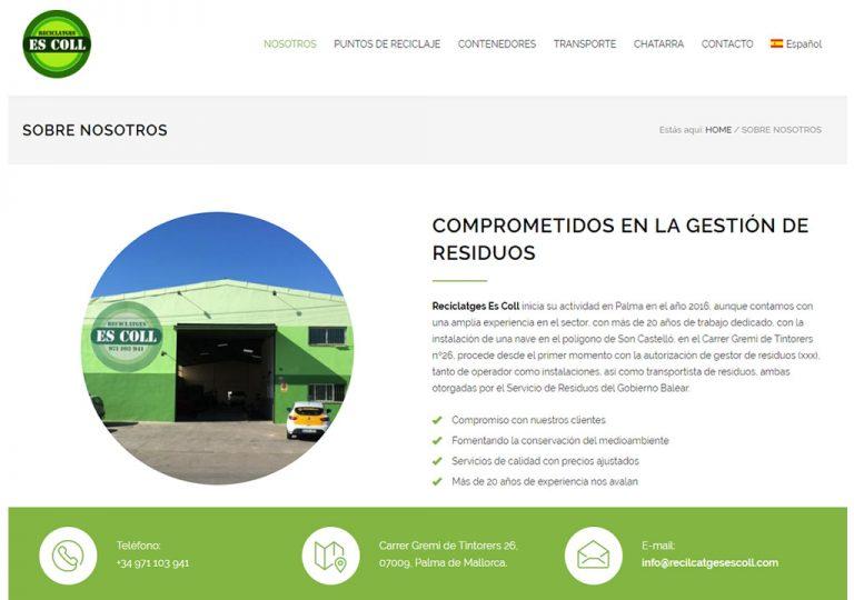 Reciclajes Es Coll, comprometidos con la gestión de residuos en mallorca